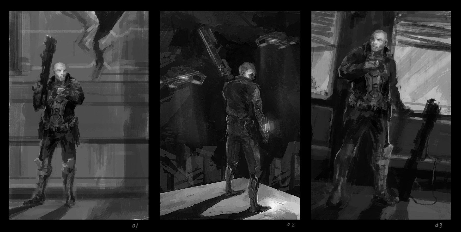 Alexandre chaudret dos officer 01 sketches