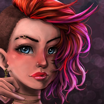 Luiz raffaello punkgirl medibang2