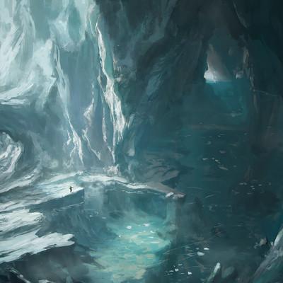 Franklin chan deep ice cavern