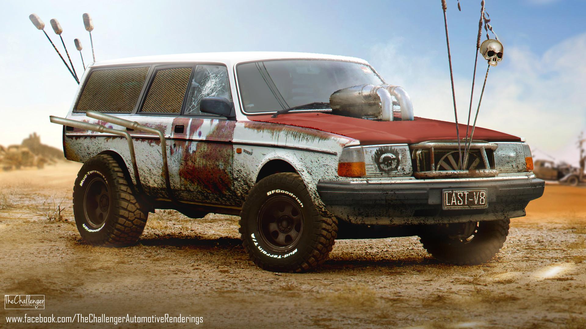 Artstation Volvo 240 Wagon Mad Max Fury Road Inspired