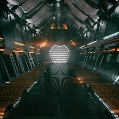 Kresimir jelusic 86 030116 sci fi corridor render