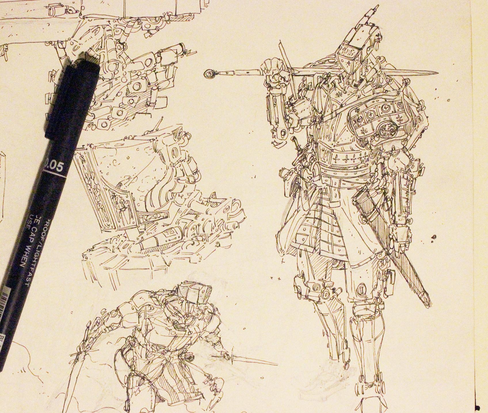 F f evo knightbot sketch 02