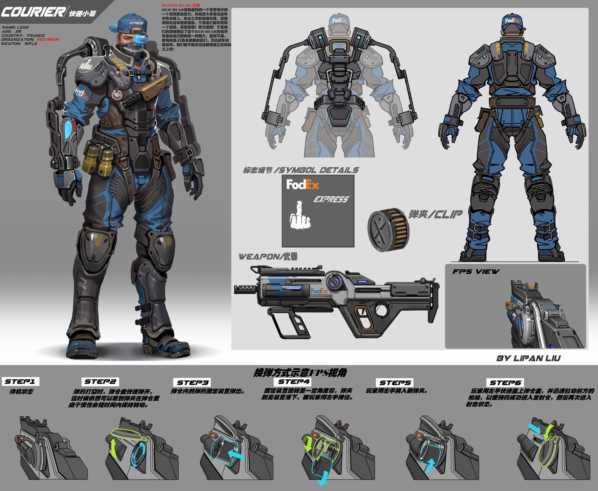 Rock d character gun