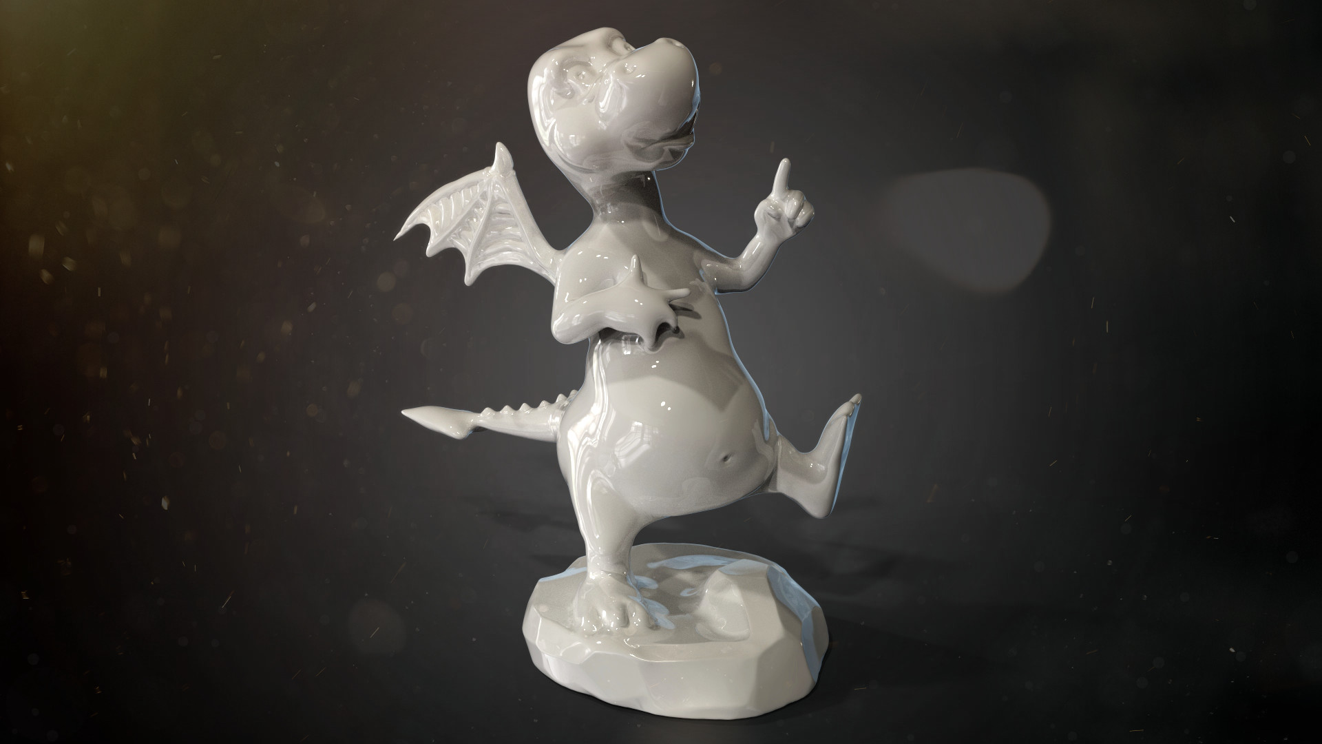 Dragon sculpture for 3d printing