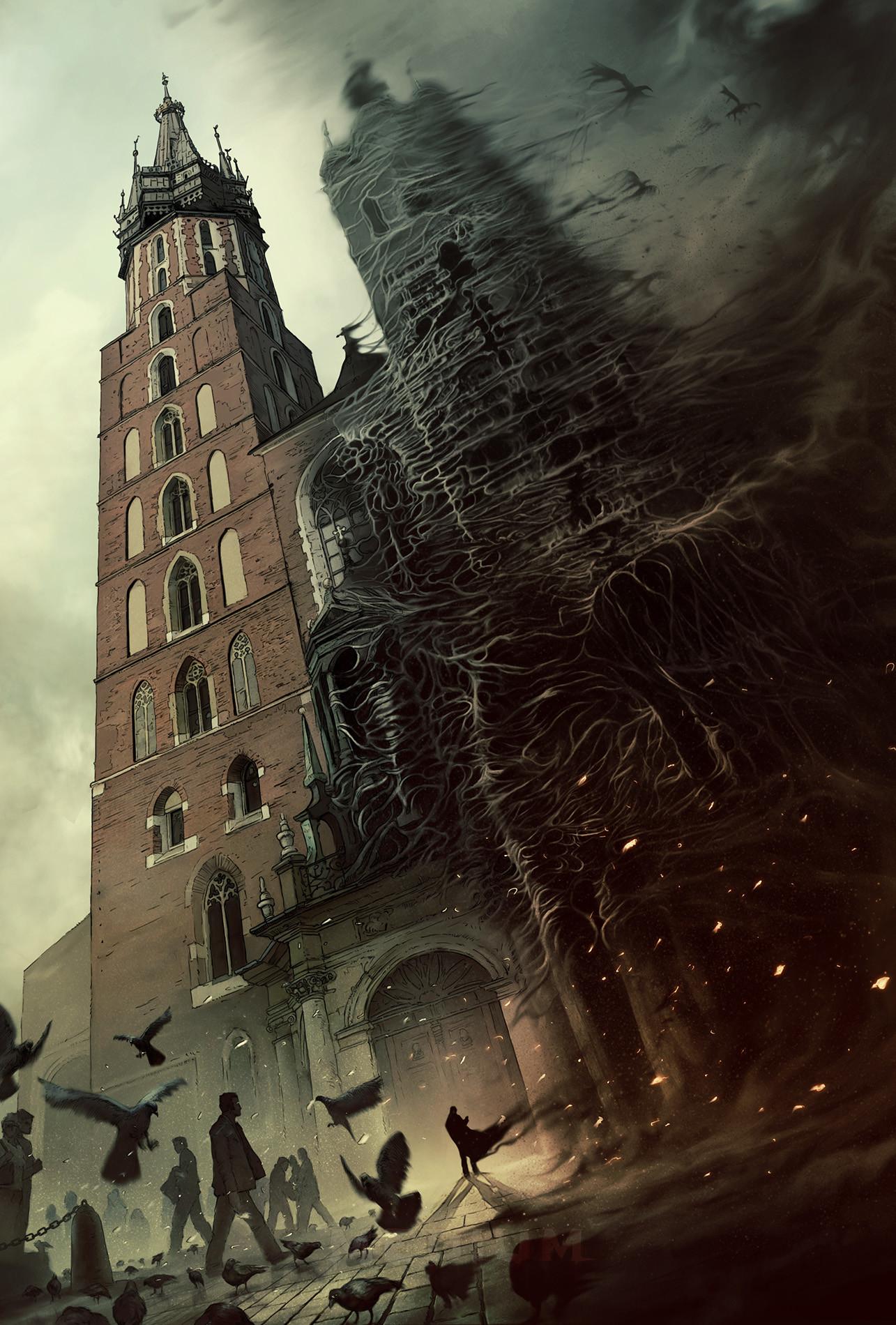 Mateusz lenart medium poster cracow towers m