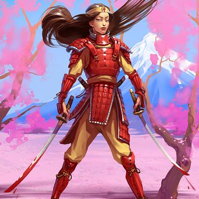 Sviatoslav gerasimchuk samurai girl tomoe