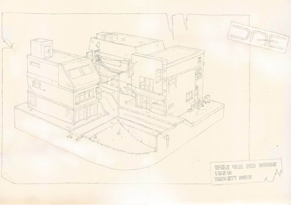 Emile van den berghe perspective drawing