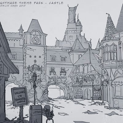 Franklin chan nightmare theme park castle