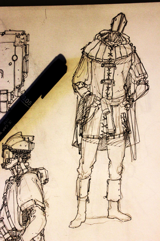 F f squire bot sketch