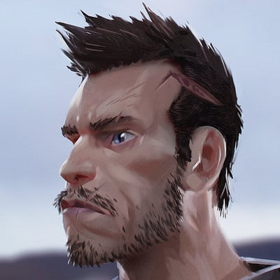 Loic liok bramoulle stylised face concept 01