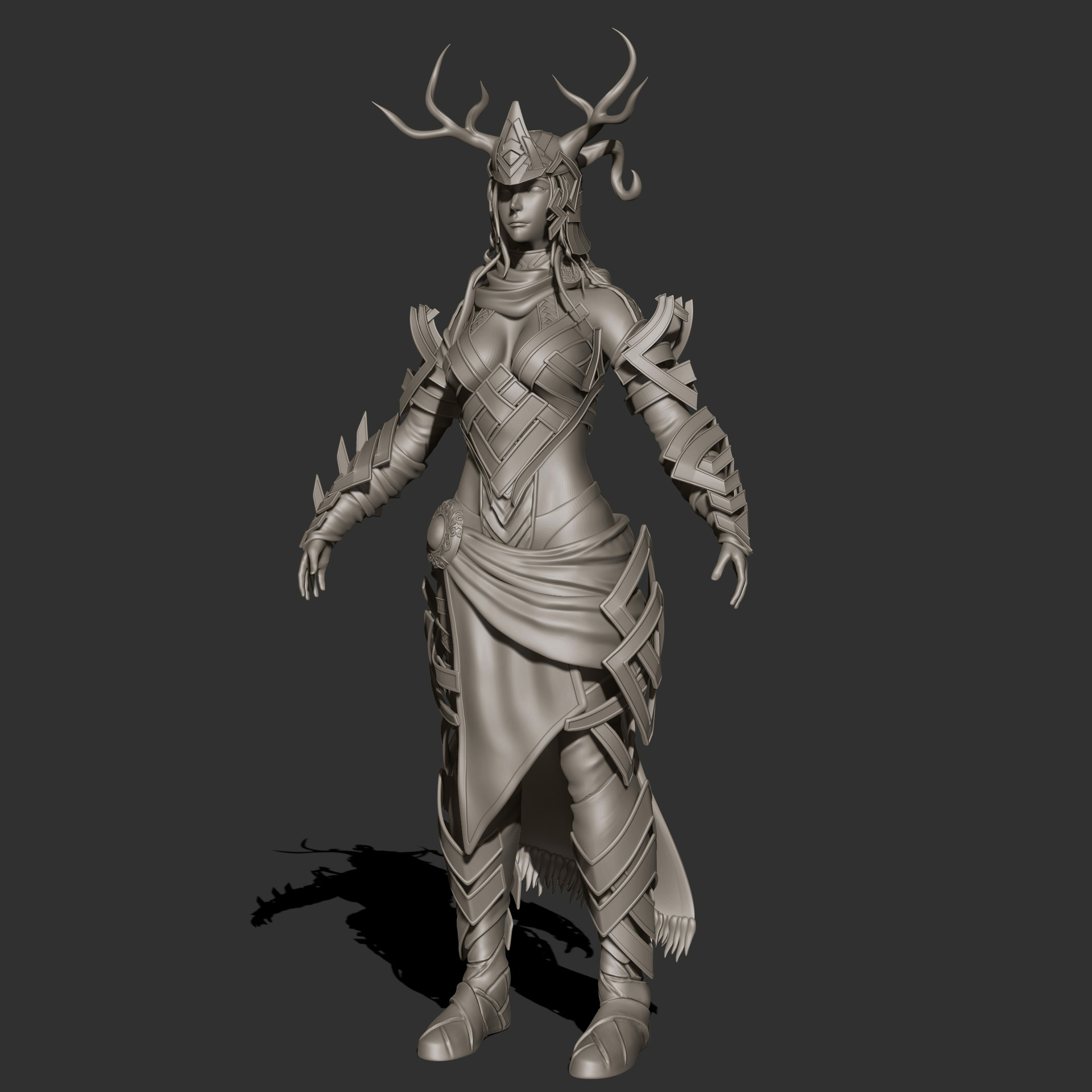 the Stag - Sculpt