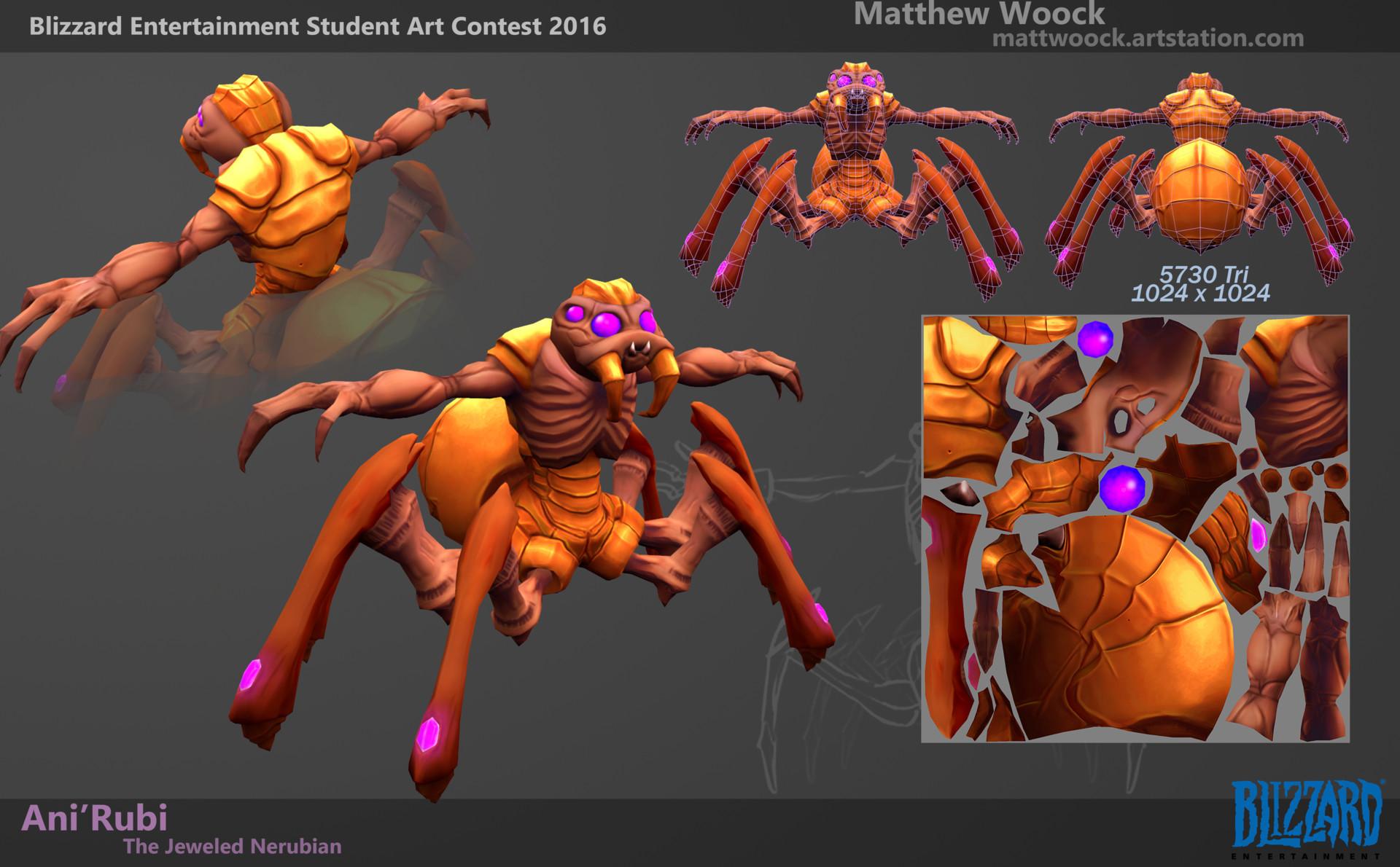 Blizzard Student Art Contest, Anirubi_Nerubian Gemweaver