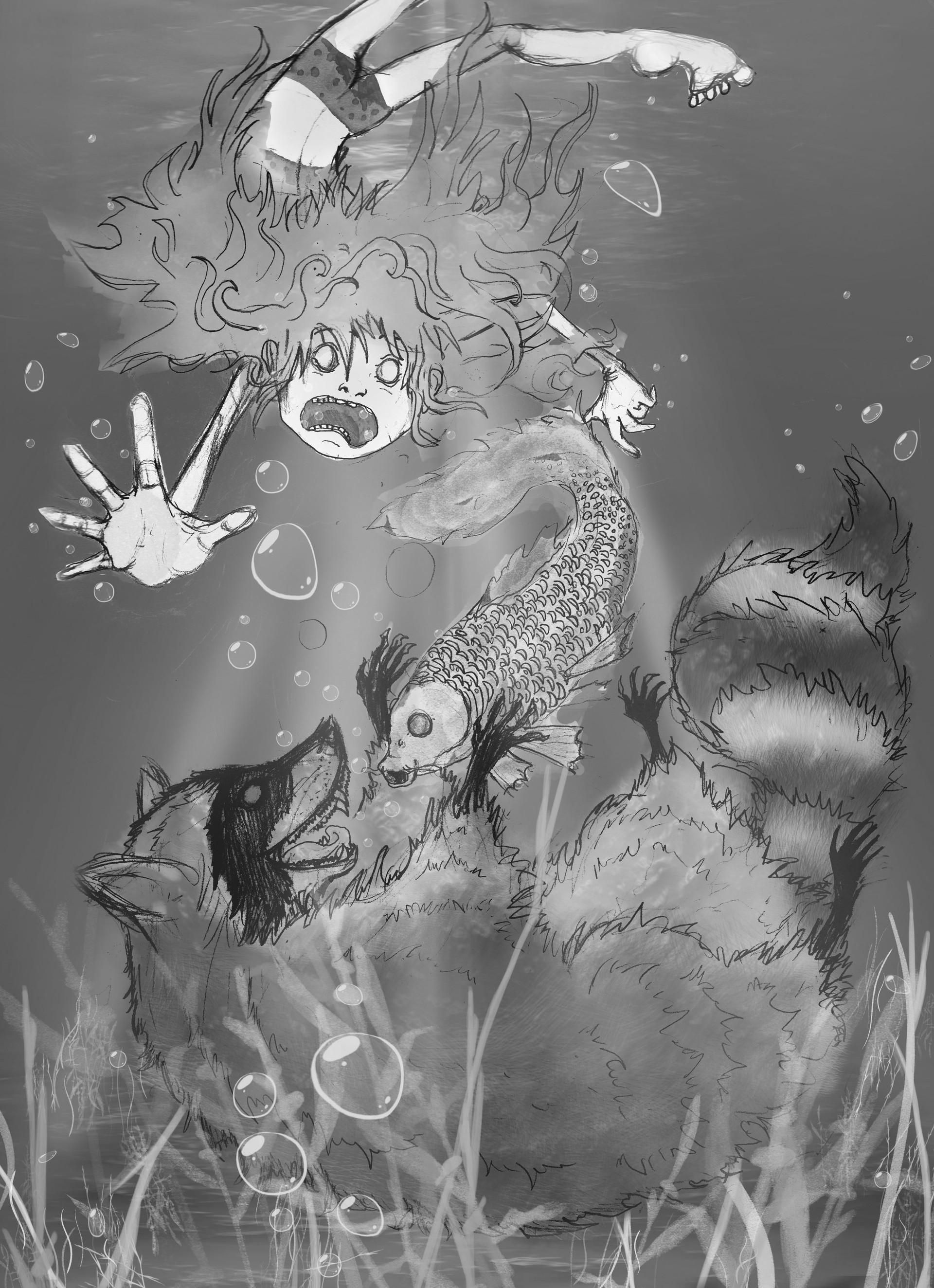 Alexandra hall pinner raccoon waterbw2