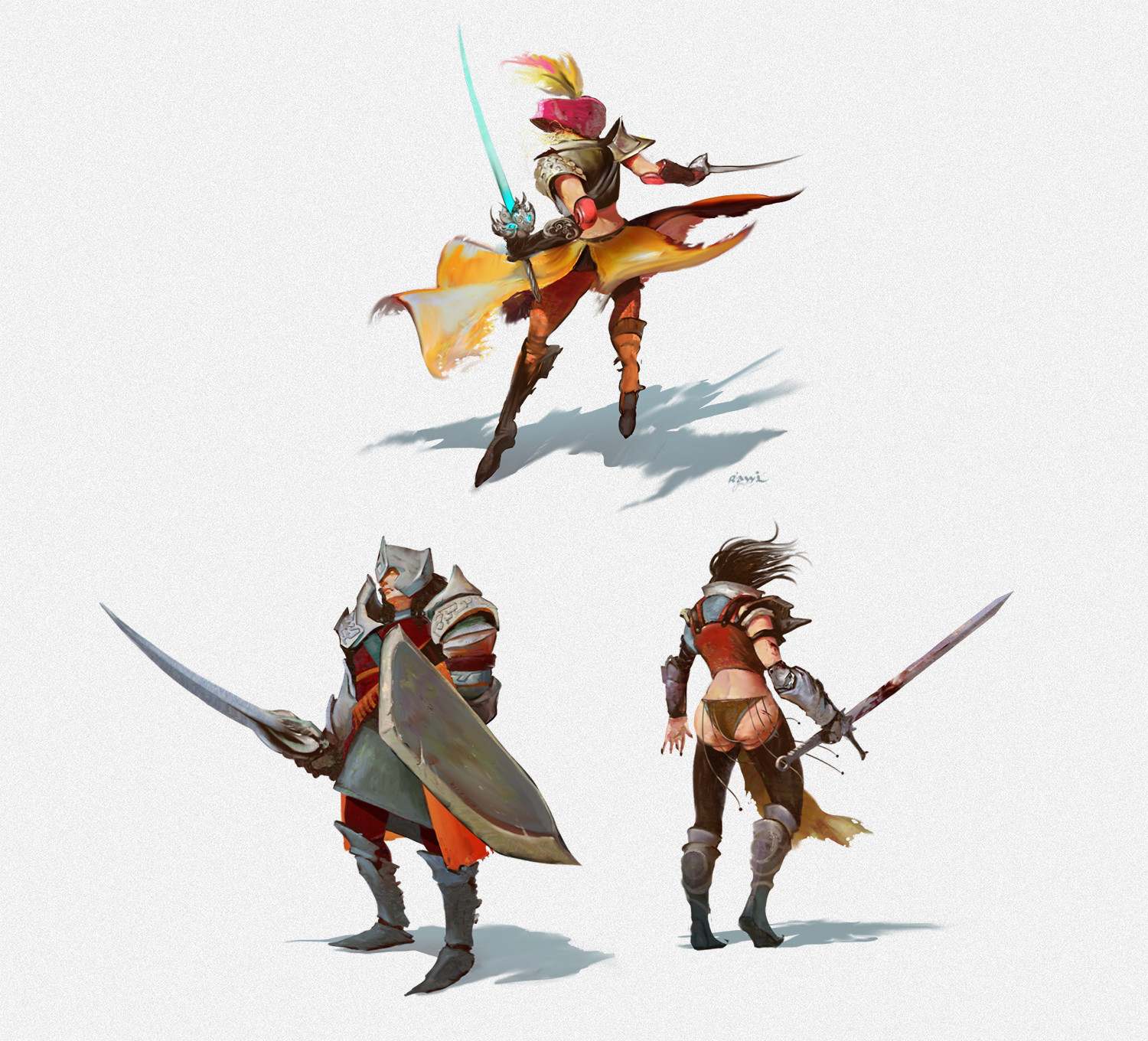 Ahmed rawi characters warriors
