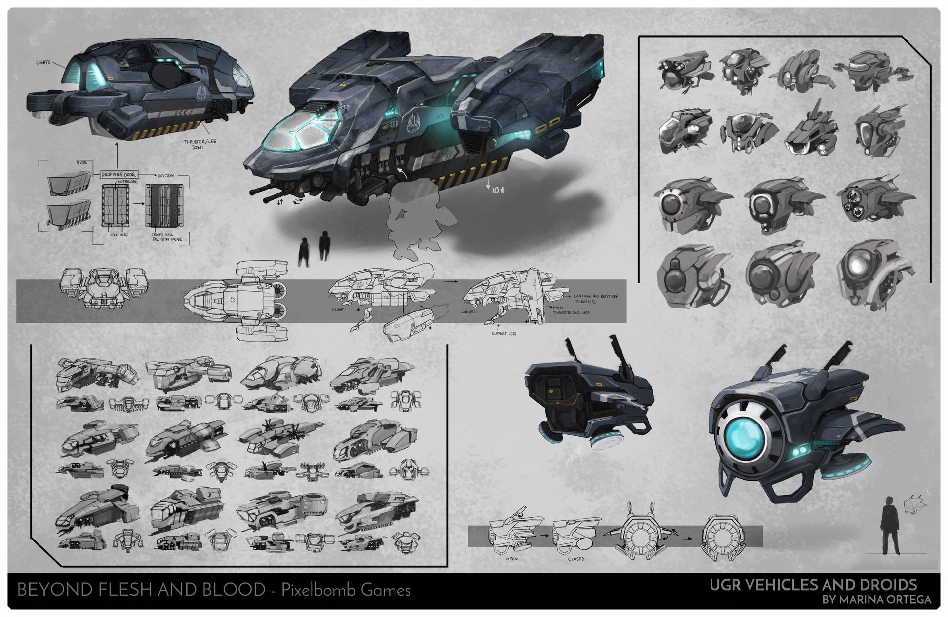 Marina ortega www artofmarinaortega com concept art page5 vehicles and droids