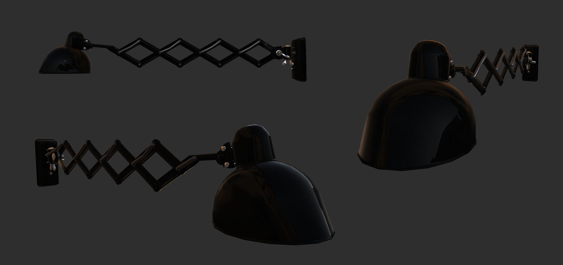 Sergey tabakov kaiser idell 6718 scissor lamp gloss