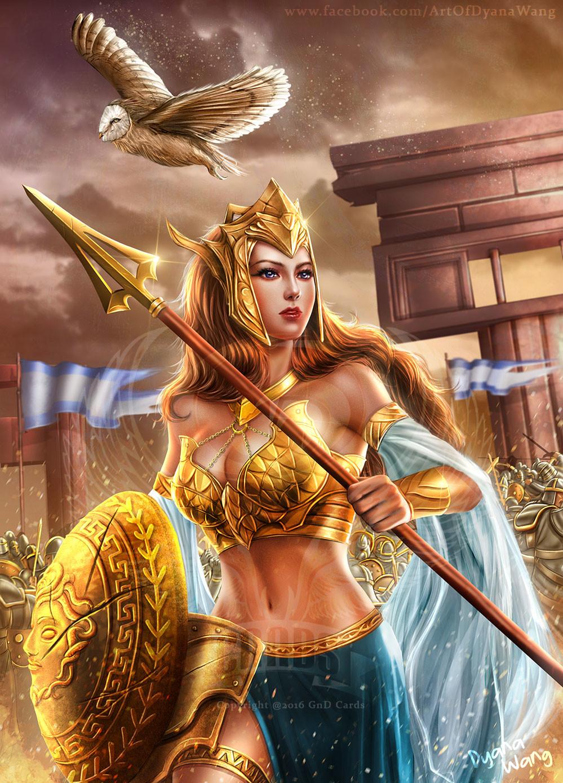 Artstation Athena The Goddess Of Wisdom And War Dyana Wang