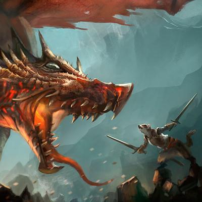 Kim van deun dragon battle cat ferret ceredyn