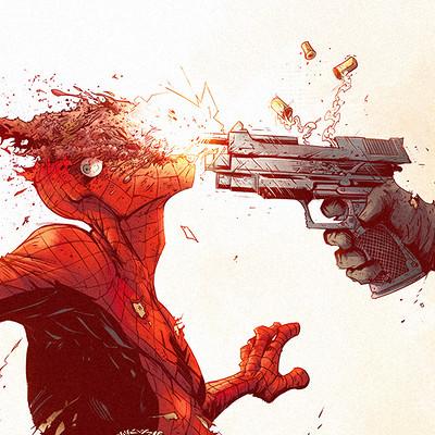 Tonton revolver punisher v spiderman