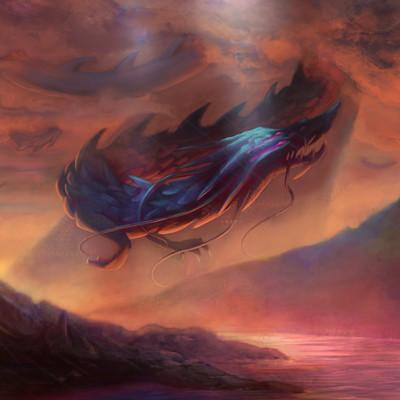 Lorenn tyr studio paisaje 2016 criatura en las nubesfinalp