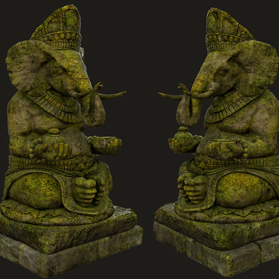 Audrey wong elephant statue 02