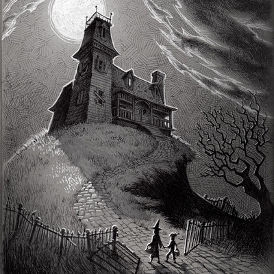 Kevin keele hauntedhousesketch
