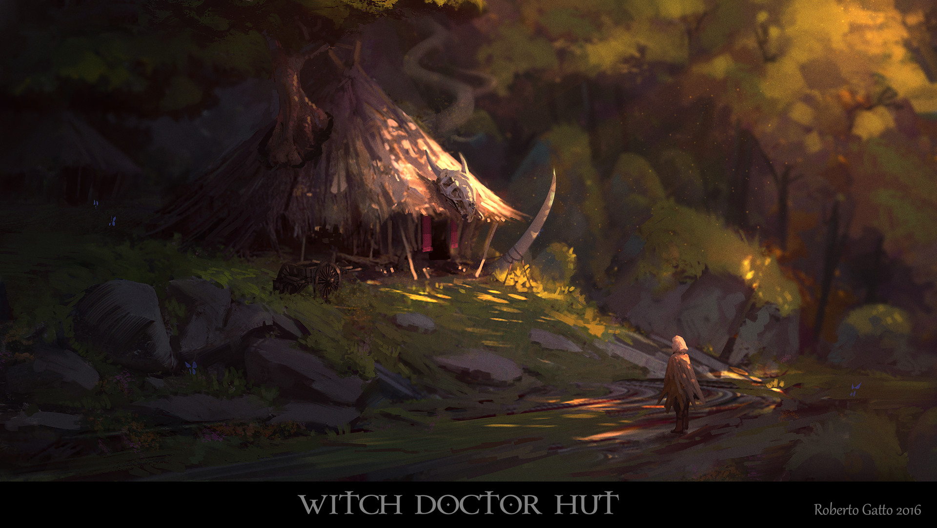 Roberto gatto witch doctor hut concept