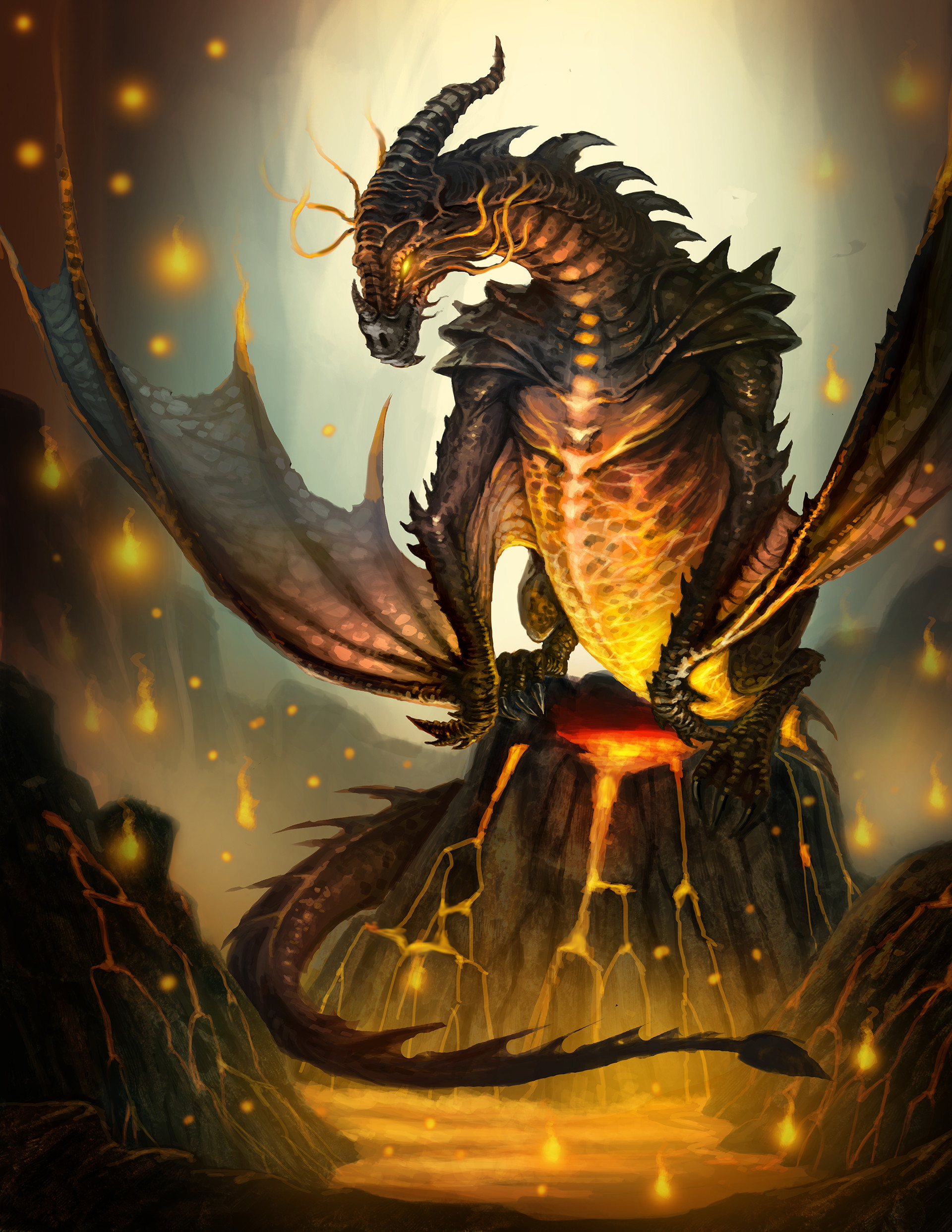 Chalmer relatorre fire dragon mythical creature