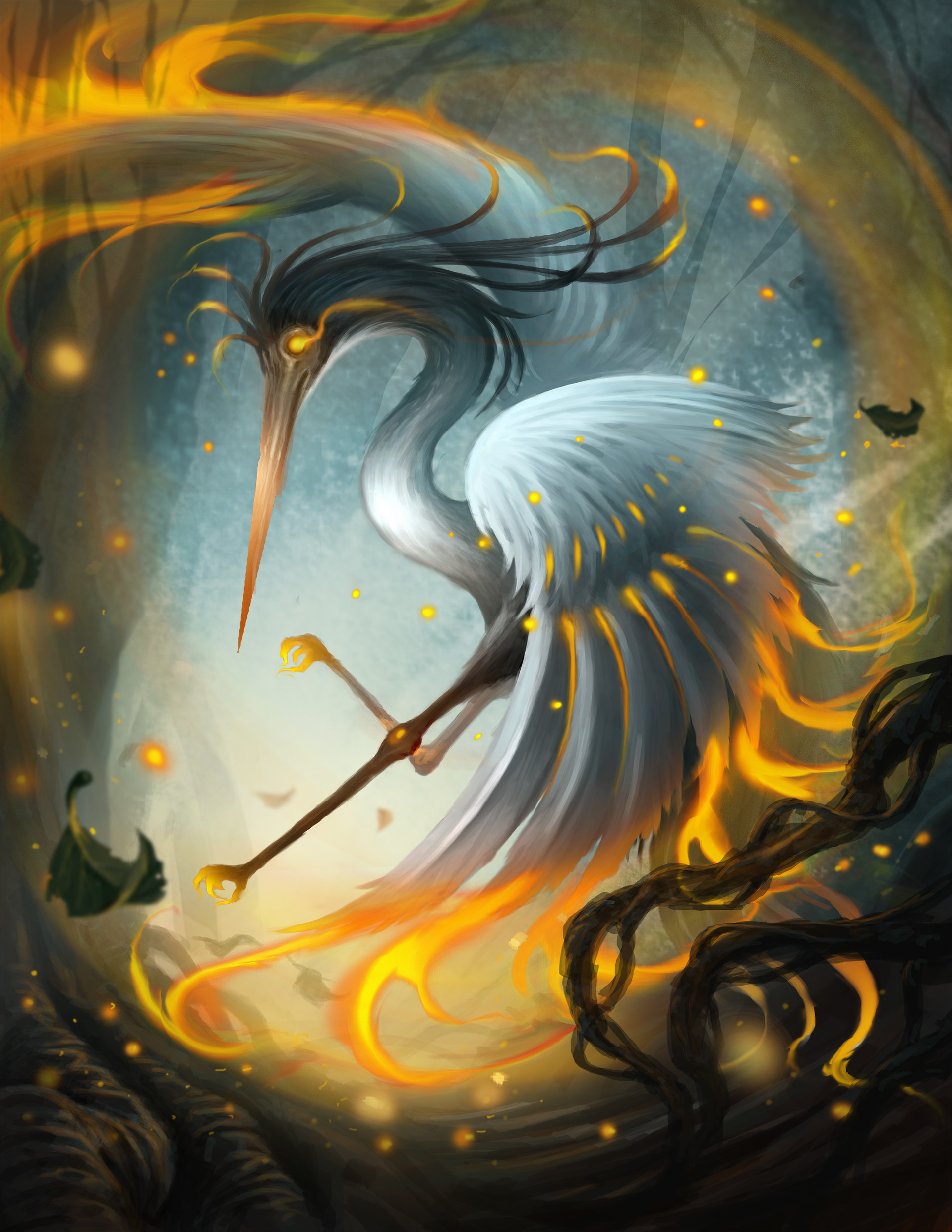 Chalmer relatorre fire heron colored