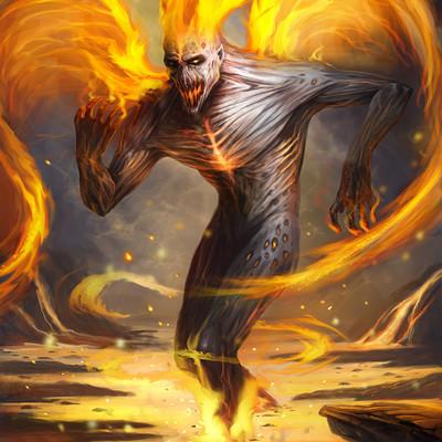 Chalmer relatorre fire humanoid