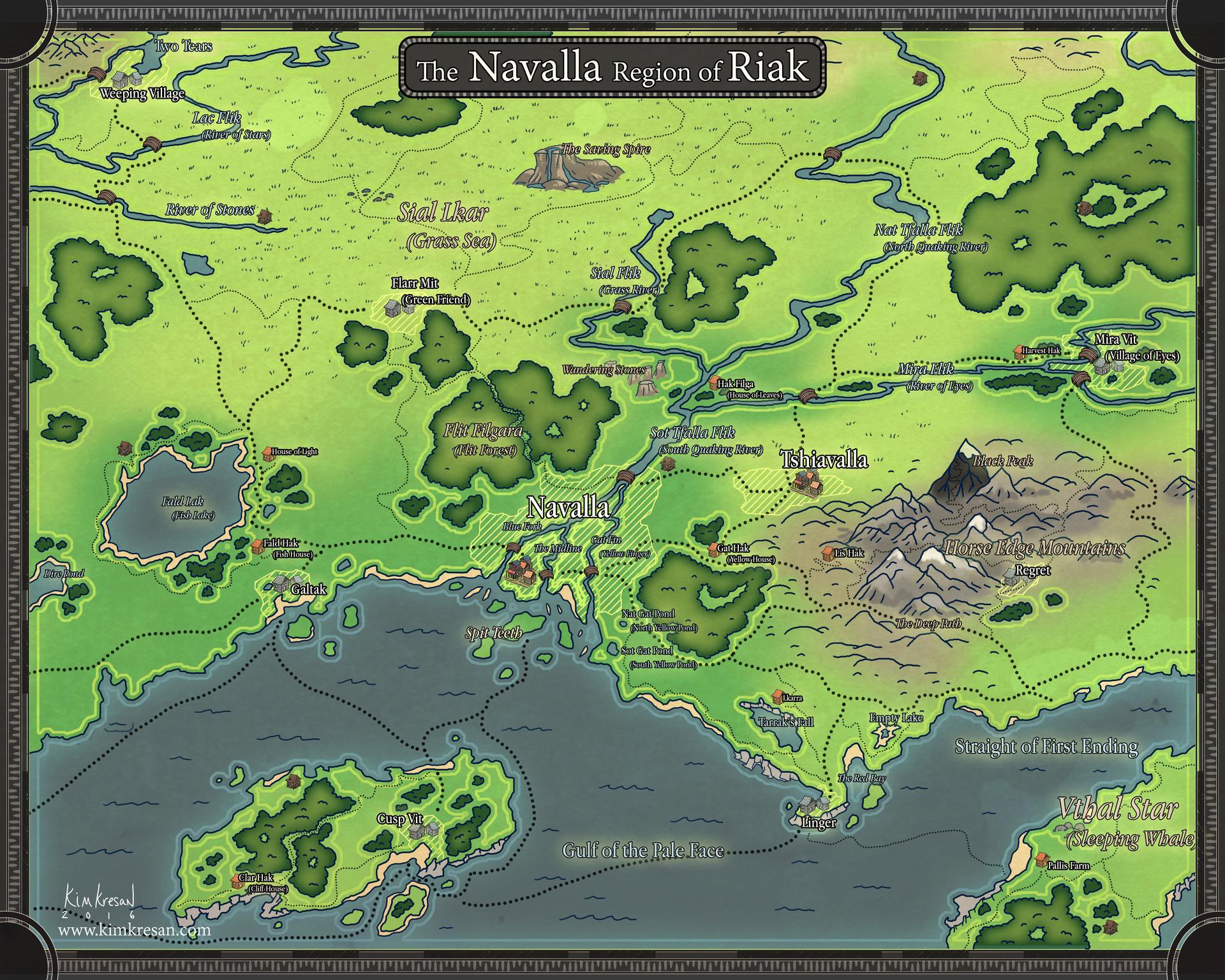 Kim kresan navalla regional map 2