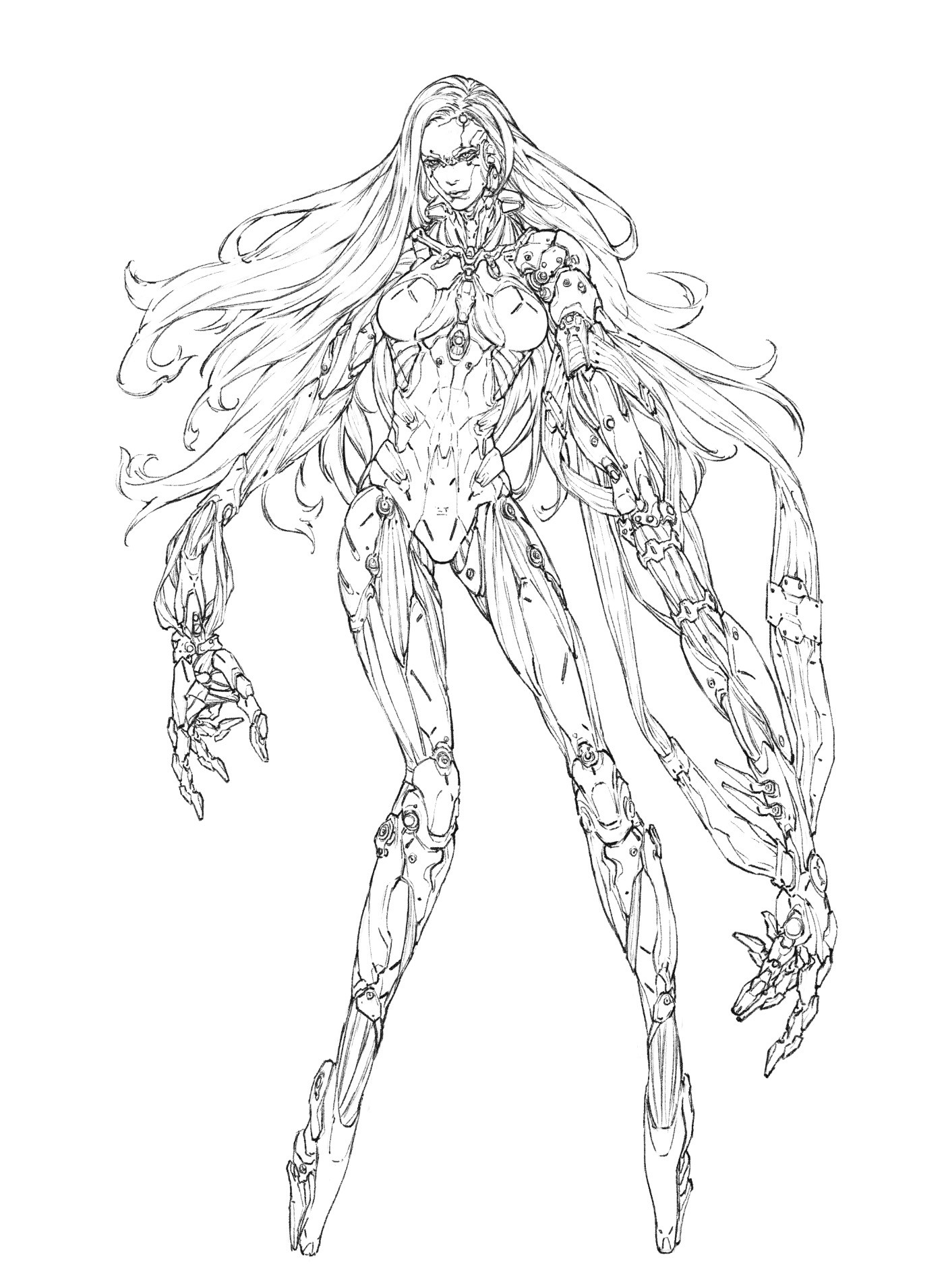 Woo kim cyborgirl creature 01 line