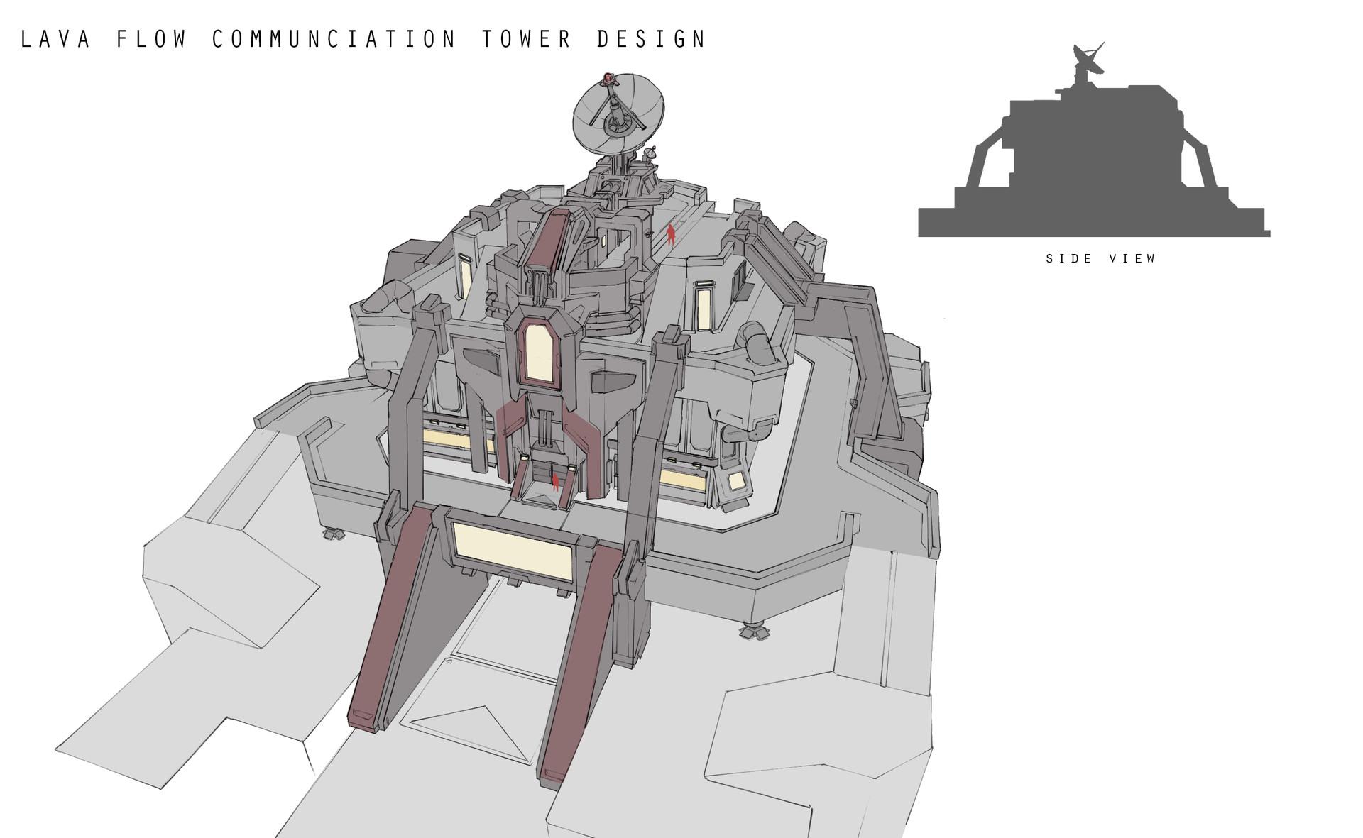 Franklin chan lava flow comm tower design layout