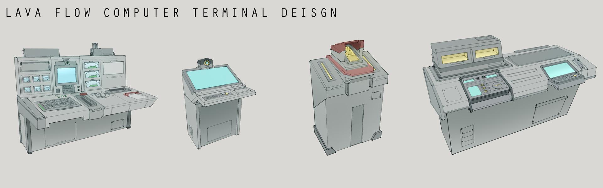 Franklin chan lava flow computer terminal design layout