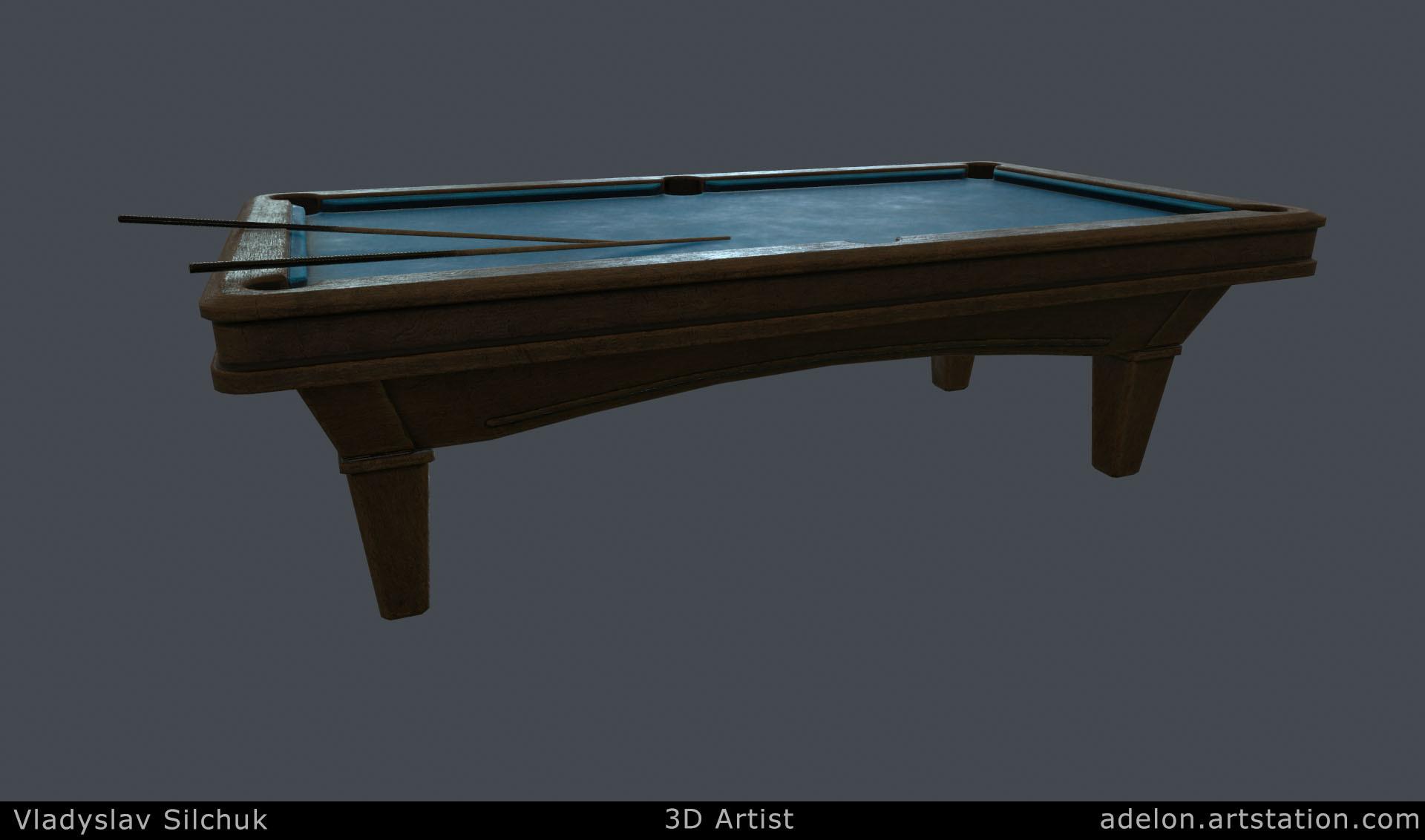 Vladyslav silchuk pool table old pub adelon