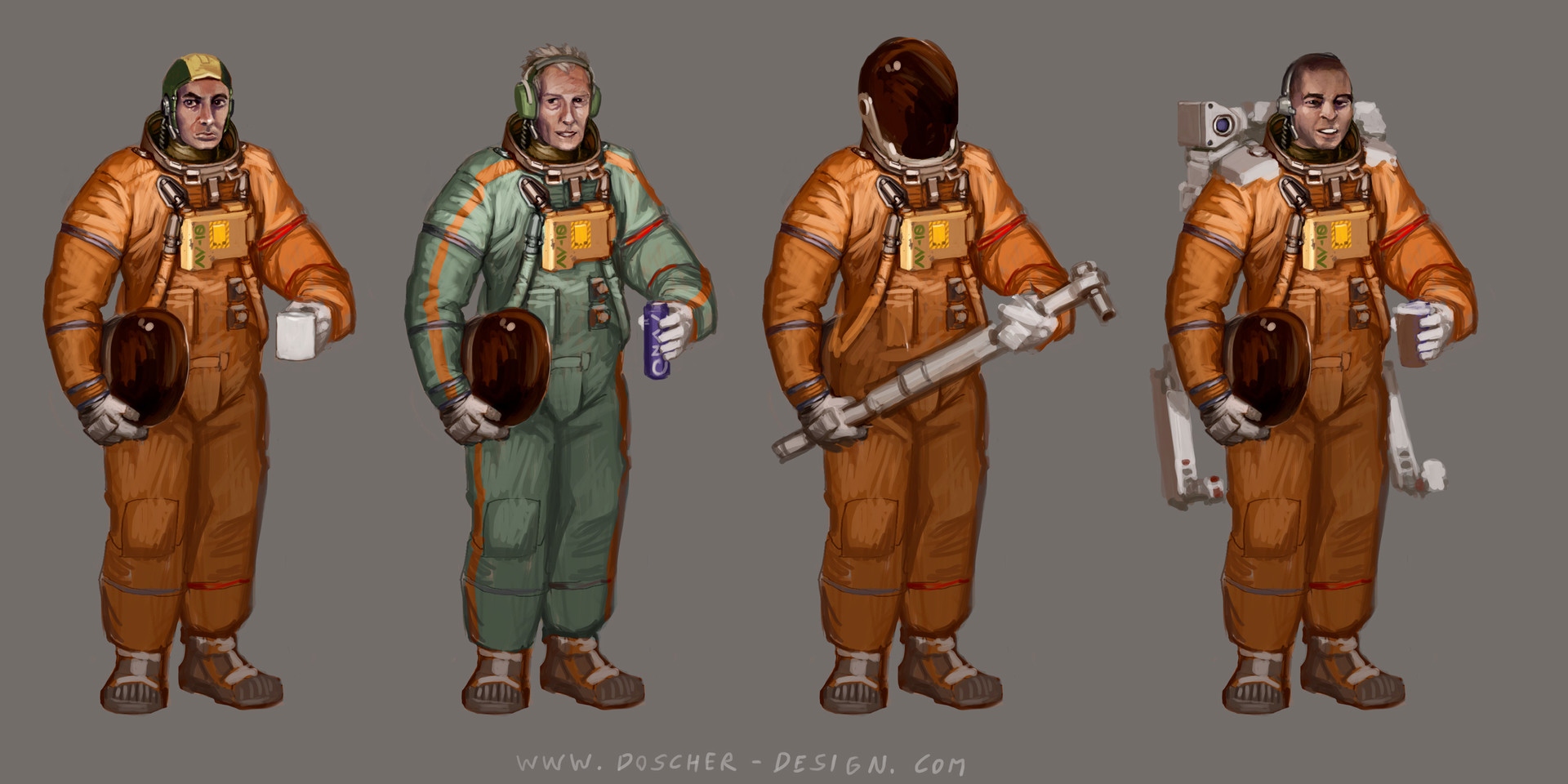 Space Suit Concept Variations