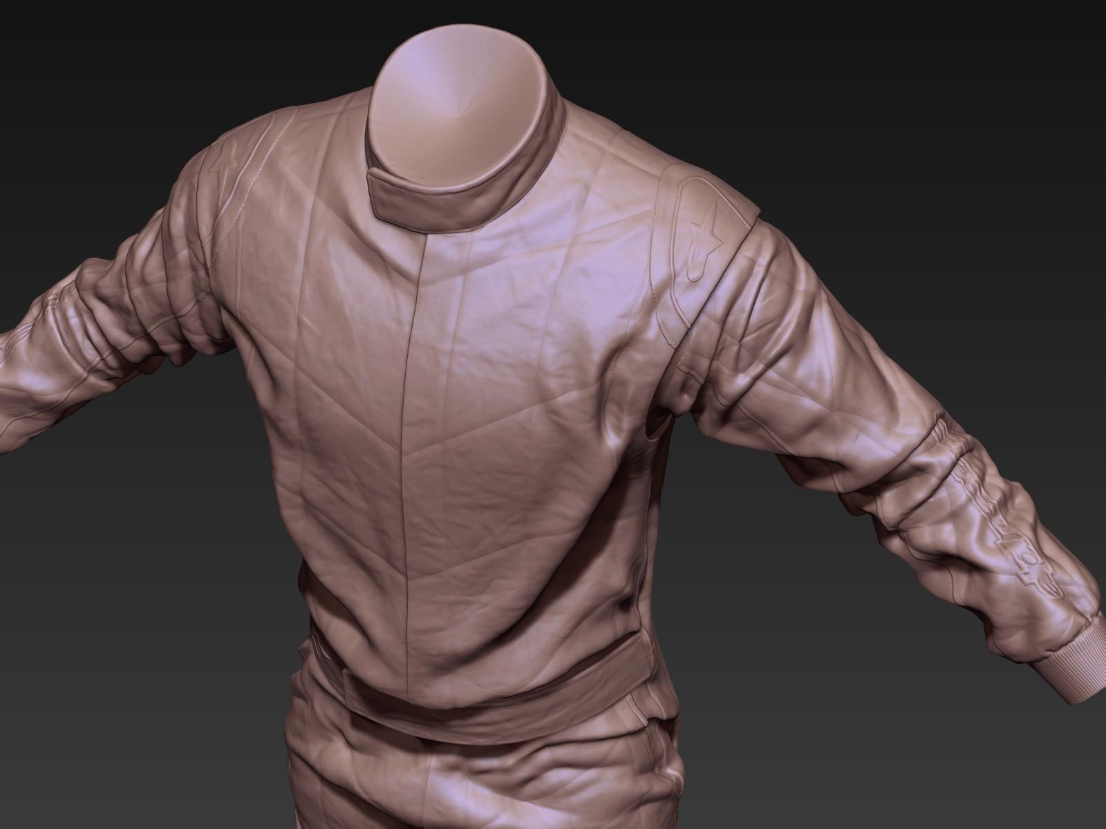 Toby hynes as suit sculpt detail 01