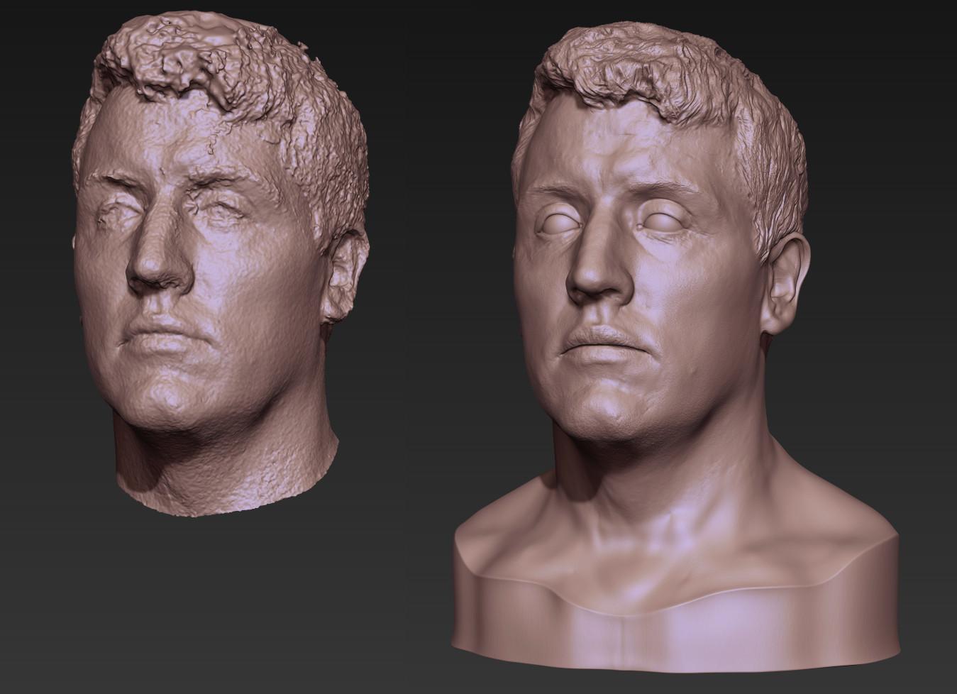 Toby hynes driver head sculpt 01