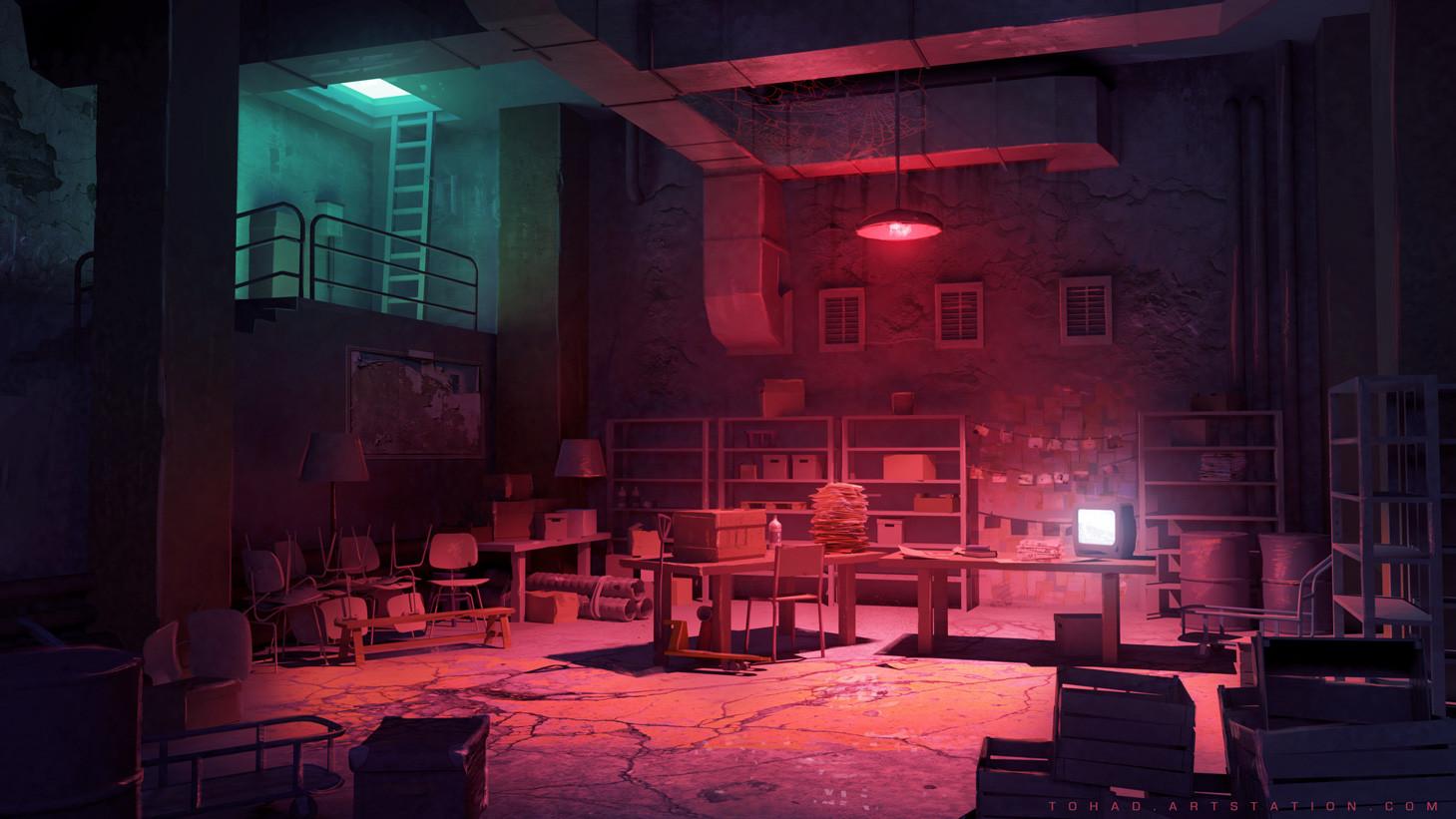 Dark Days : dark room