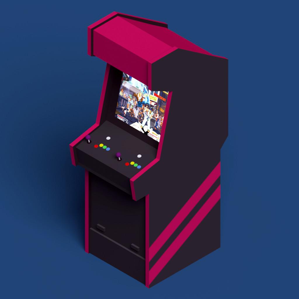 Eugene voyager arcade cabinet
