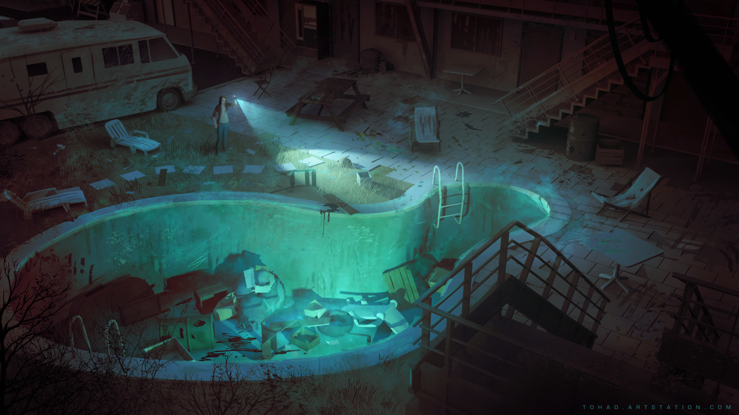 Dark Days :  Motel exterior