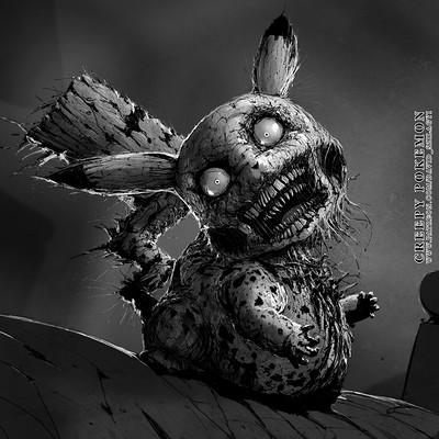David szilagyi 25 pikachu davidszilagyi creepypokemon lowres