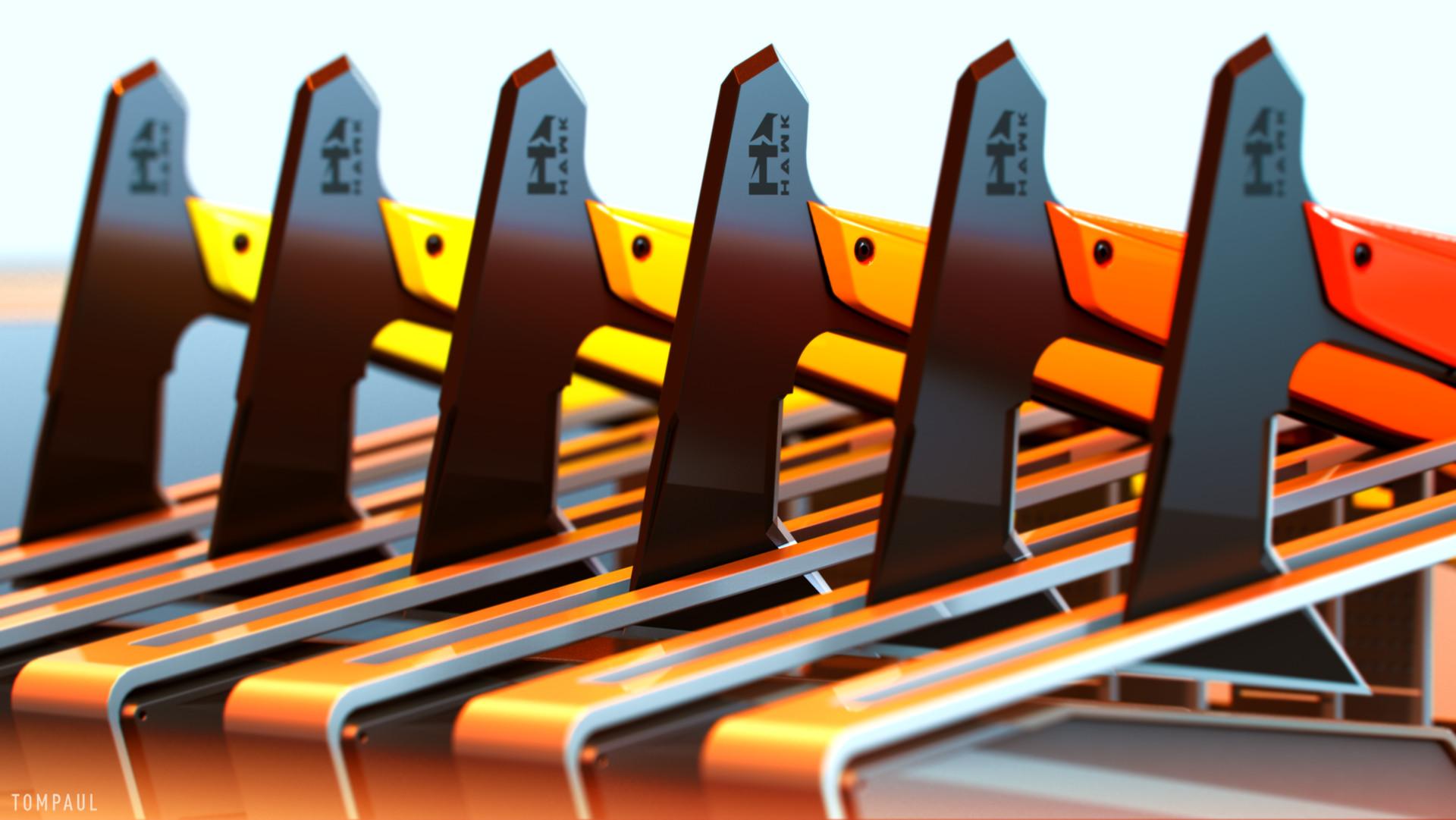 Tom paul hawk rack blades