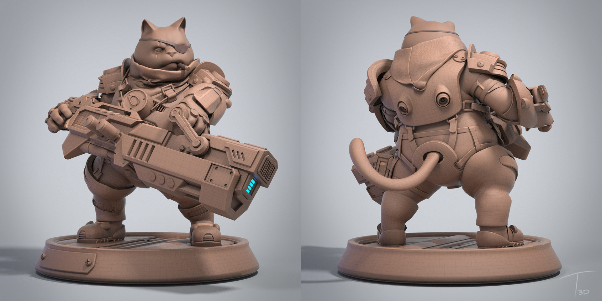 Kevin beckers rockd cat clay