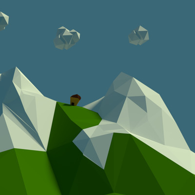 Darryl dias low poly mountain