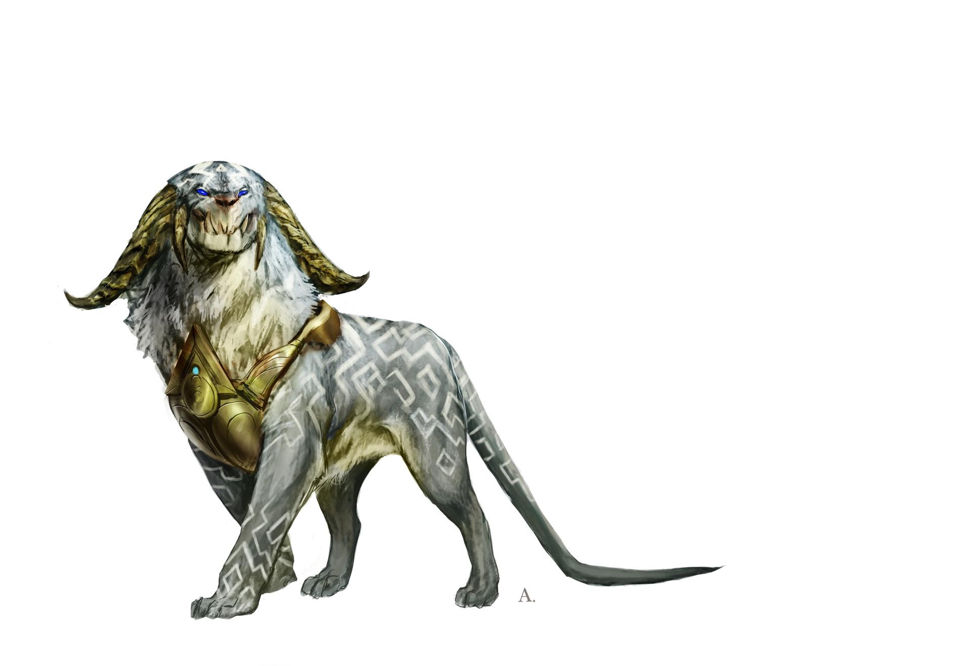 Aleksi briclot magic hook concept azorius creature lion 01