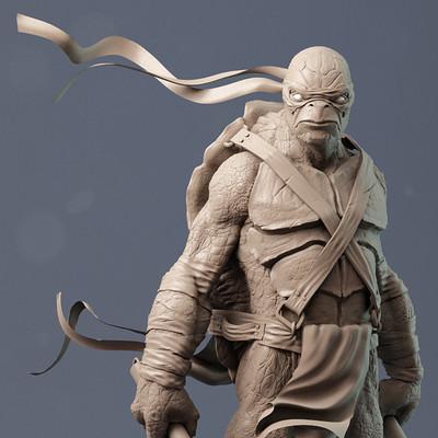 Adam sacco ninja turtle clay by adam sacco
