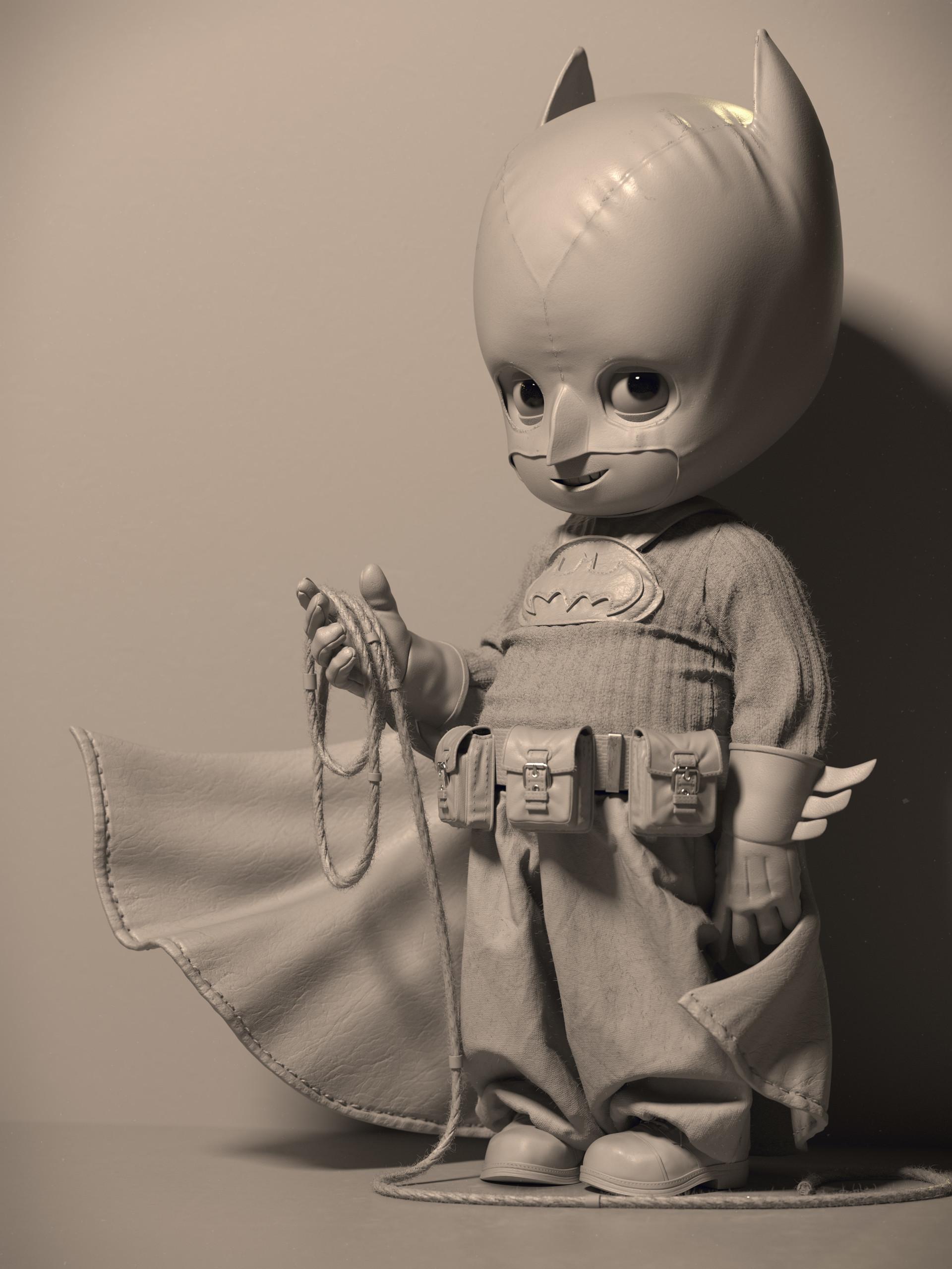 Quentin chaillet batman cute grey hd