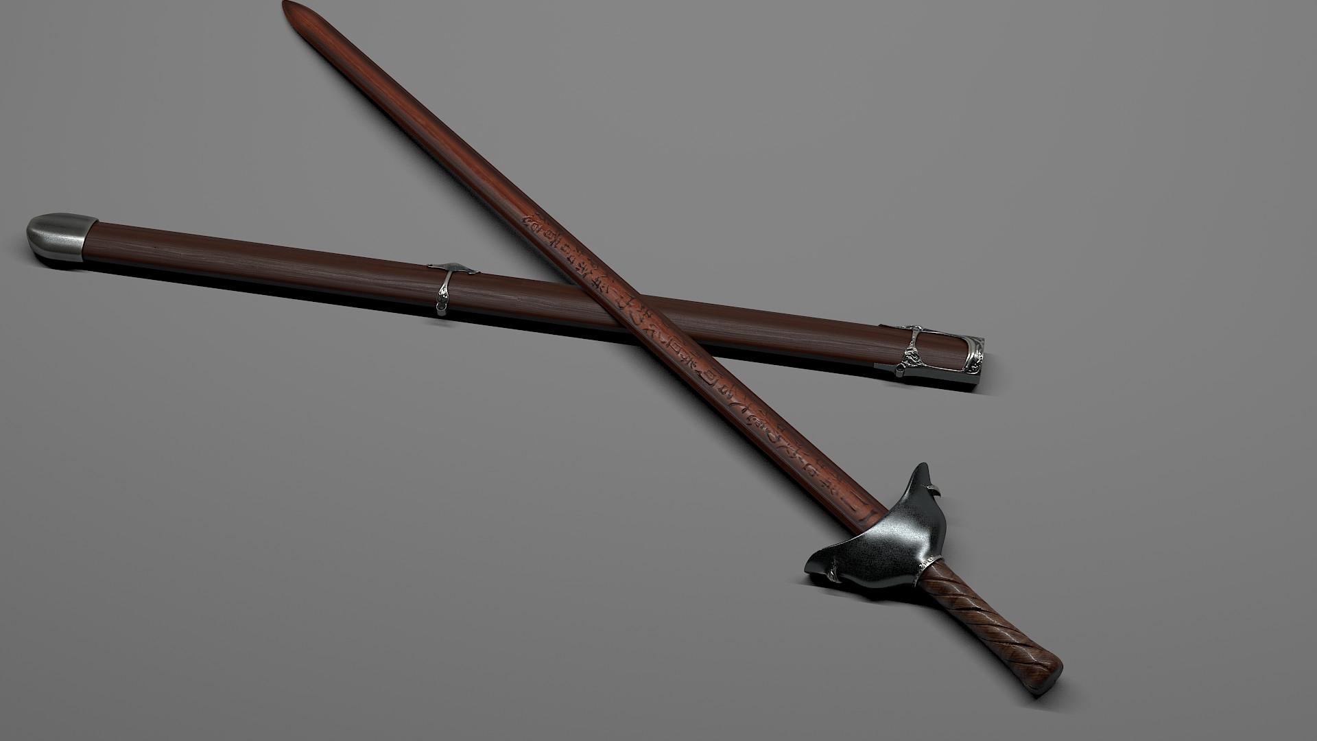Kai liu peach wood sword