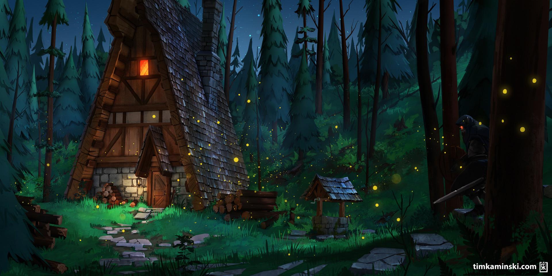 Tim kaminski forest cabin sad